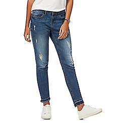 Red Herring - Blue 'Holly' skinny light wash ankle grazer jeans