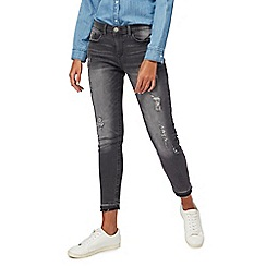 Red Herring - Grey 'Holly' skinny light wash ankle grazer jeans