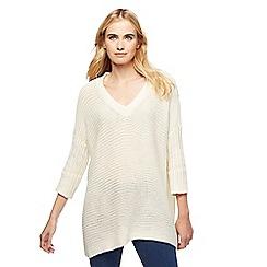 Noisy may - Cream knitted jumper