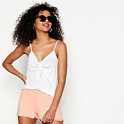Red Herring - White ruched front camisole top