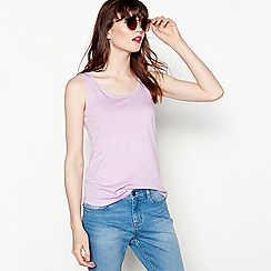 Red Herring - Lilac swing vest top