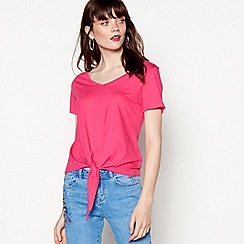 Red Herring - Pink tie front top
