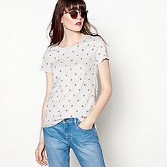 Red Herring - Grey strawberry print t-shirt