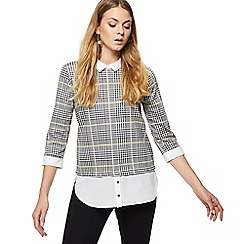 Red Herring - Multi-coloured checked 2-in-1 top