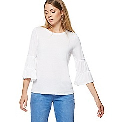 Red Herring - White tiered sleeve top