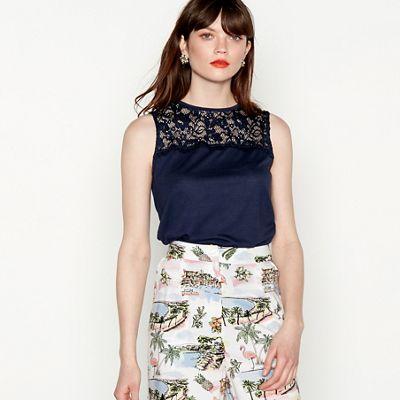 a08b069998 red-herring---navy-sleeveless-lace-yoke-vest-