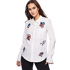 Red Herring - White embroidered shirt