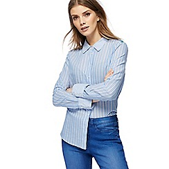 Red Herring - Blue pinstripe shirt