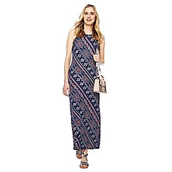 Red Herring - Navy printed high neck maxi dress