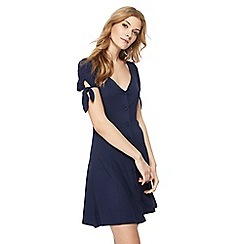 Red Herring - Navy V-neck short sleeve mini dress