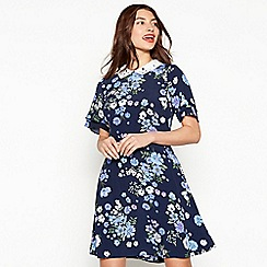 Red Herring - Blue floral print 'Sophia' skater dress