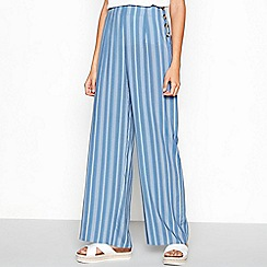 Red Herring - Blue stripe loose fit wide leg trousers