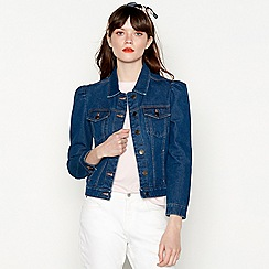 Red Herring - Blue puff sleeve denim jacket