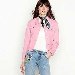 Red Herring - Pink denim trucker jacket