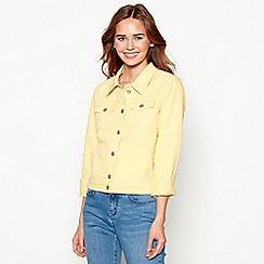 Red Herring - Pale yellow denim trucker jacket