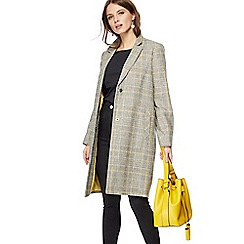 Red Herring - Mustard checked wool blend coat