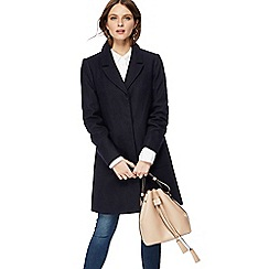 Red Herring - Navy wool blend coat