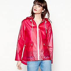 Red Herring - Pink translucent anorak