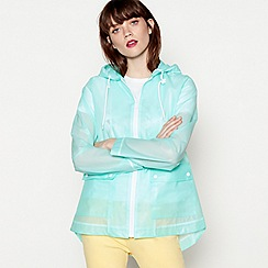 Red Herring - Aqua translucent anorak