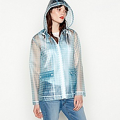 Red Herring - Blue gingham print transparent anorak