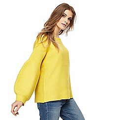 Red Herring - Yellow balloon sleeve jumper