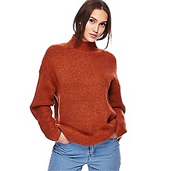 Red Herring - Dark orange oversized jumper
