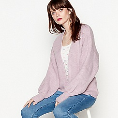 Red Herring - Lilac chunky knit cardigan