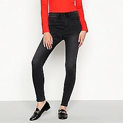 Red Herring - Dark grey 'Heidi' high waisted skinny jeans