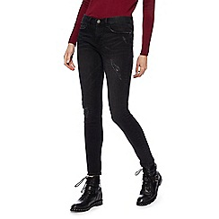 Red Herring - Black 'Holly' ankle grazer skinny jeans