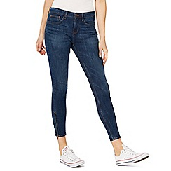 Red Herring - Dark blue 'Holly' mid wash ankle grazer skinny jeans