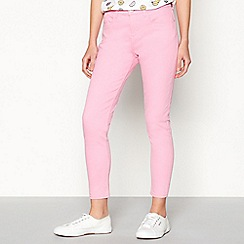 Red Herring - Light pink 'Holly' ankle grazer jeans