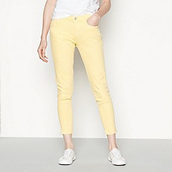 Red Herring - Light yellow Holly ankle grazer jeans