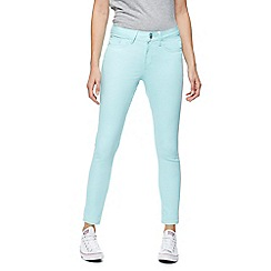 Red Herring - Pale green 'Holly' super skinny ankle grazer jeans