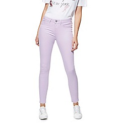 Red Herring - Lilac 'Holly' super skinny ankle grazer jeans