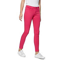 Red Herring - Bright pink 'Holly' super skinny ankle grazer jeans