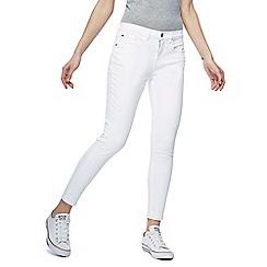 Red Herring - White 'Holly' skinny ankle grazer jeans