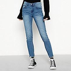 Red Herring - Blue 'Holly' skinny leg ankle grazer jeans