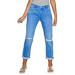 Red Herring - Blue 'Chloe' mid rise girlfriend jeans