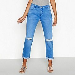 Red Herring - Blue 'Chloe' mid rise girlfriend jeans