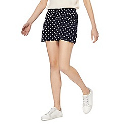 Red Herring - Navy spotted print shorts