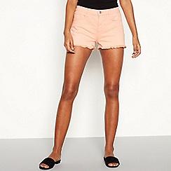 Red Herring - Peach frayed shorts