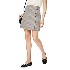 Red Herring - Grey checked suit skirt