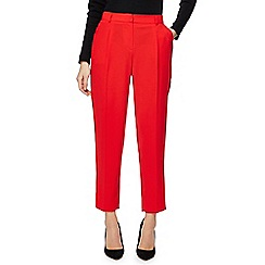 Red Herring - Red tapered fit suit trousers