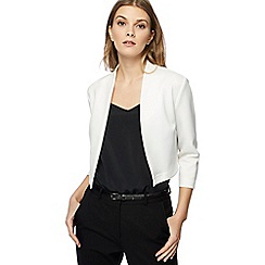 Red Herring - White scuba cropped jacket