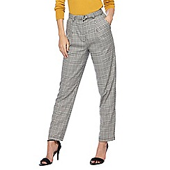 Red Herring - Black and white dogtooth checked trousers