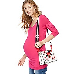Red Herring Maternity - Pink three quarter length sleeve maternity top