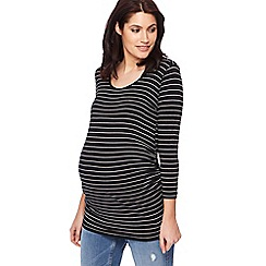 Red Herring Maternity - Black striped maternity top