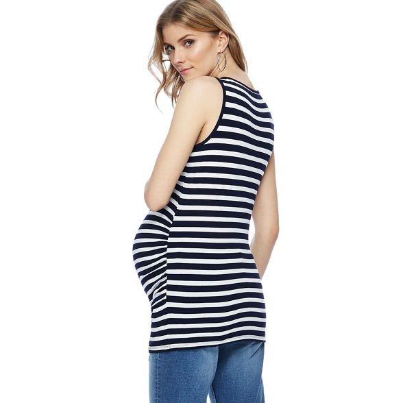 Red Maternity neck striped Herring Navy maternity scoop vest qF17gqnO
