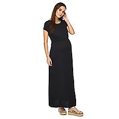 Red Herring Maternity - Black cap sleeve full length maternity dress