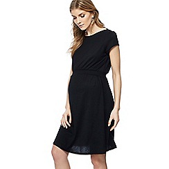 Red Herring Maternity - Black cap sleeve knee length skater dress